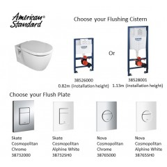 American Standard Nuovo Wall Hung Water Closet Bundle