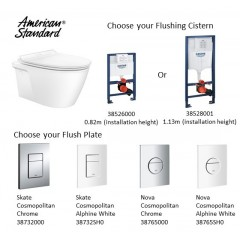 American Standard Acacia Supa Sleek Wall Hung Water Closet Bundle