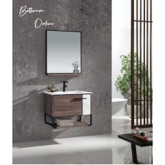 Becker 700MM 2 Doors Stainless Steel Bathroom Vanity With Mirror
