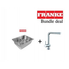 Franke Bell 545mm Undermount Stainless Steel Single Bowl Sink With L Spout Kitchen Sink Mixer Tap