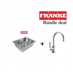 Franke Bell 545mm Undermount Stainless Steel Single Bowl Sink With C Spout Kitchen Sink Mixer Tap