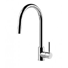 Gessi Cucinai Single Lever Kitchen Mixer Tap With Pull Out Spout In Chrome