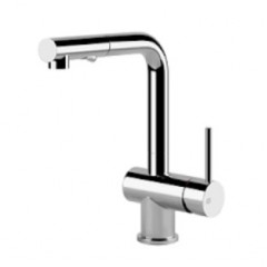 Gessi Cucinai Single Lever Kitchen Sink Mixer Tap With Pull Out Spout In Chrome