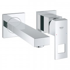 Grohe Eurocube Two-Hole Wall Mounted Concealed Basin Mixer Tap S-Size