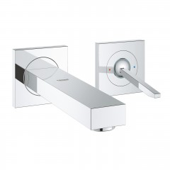 Grohe Eurocube Joy Two-Hole Wall Mounted Concealed Basin Mixer Tap M-Size