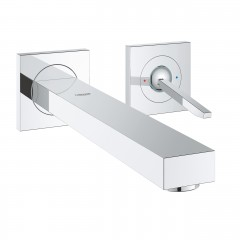 Grohe Eurocube Joy Two-Hole Wall Mounted Concealed Basin Mixer Tap L-Size