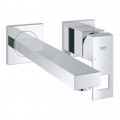 Grohe Eurocube Two-Hole Wall Mounted Concealed Basin Mixer Tap M-Size