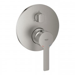 Grohe Lineare Single-Lever Supersteel Mixer With 3-Way Diverter