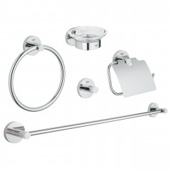 Grohe Essentials Master Bathroom Accessories Set 5-In-1 Chrome