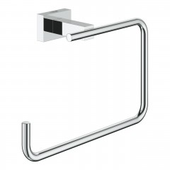 Grohe Essentials Cube Towel Ring In Chrome