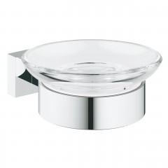Grohe Essentials Cube Soap Dish With Holder In Chrome