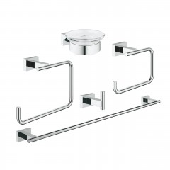 Grohe Essentials Cube Master Bathroom Accessories Set 5-in-1 Chrome