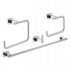 Grohe Essentials Cube Master Bathroom Accessories Set 4-In-1 Chrome