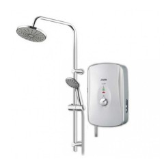 Joven Electric Instant Water Heater With Rain Shower In Silver
