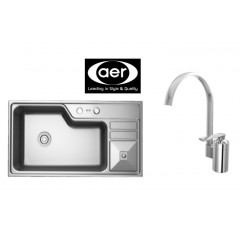 AER Stainless Steel Sink Bundle With Sink Mixer Tap