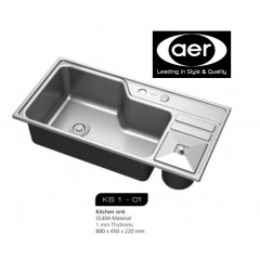 AER Top Mount Stainless Steel Kitchen Sink