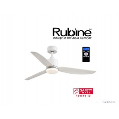 Rubine Bell Series Ceiling Fan with 24W Led and Remote In White