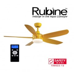 "Rubine 52"" Ceiling Fan With 24 Watt Led And Remote Control In Yellow"