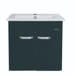 Rubine 50CM Stainless Steel 2 Doors Bathroom Cabinet Pearl Black
