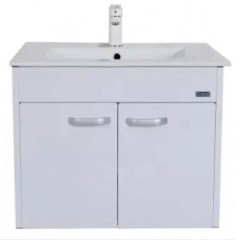 Rubine 60cm Stainless Steel 2 Doors Bathroom Cabinet Pearl White