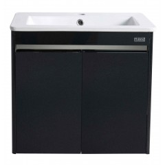 Rubine 50cm Stainless Steel Bathroom Cabinet With Basin Pearl Black