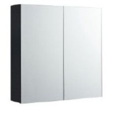 Rubine 2 Doors Mirror Cabinet Pearl Black