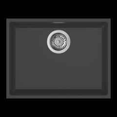 Rubine 510mm Under Mount Granite Sink In Pearl Black