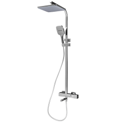 Rubine Rain Shower With Thermostatic System Set With Spout Chrome