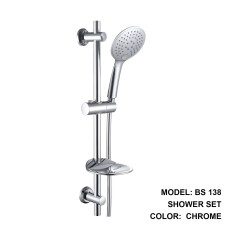 Boshsini Hand Shower Set With Sliding Rod In Chrome