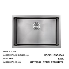 Boshsini Single Bowl Kitchen Sink With Nano Coating In 630MM